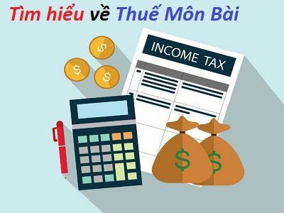 thuế môn bài, cách tính thuế môn bài