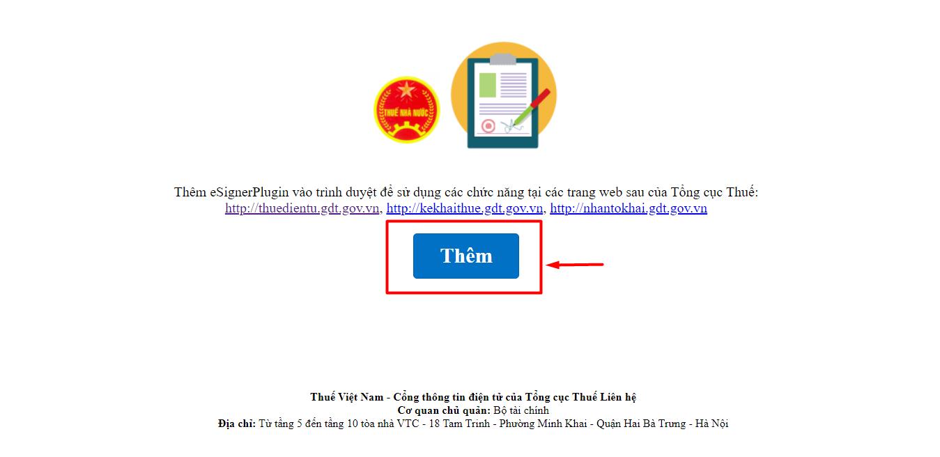 eSignerPlugin, khai thuế điện tử